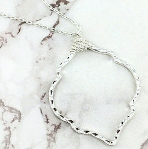 New Morrocan Silver Necklace & Pendant